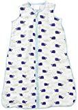 Aden and Anais High Seas Classic Muslin Sleeping Bag 1 Tog, Blue, X-Large