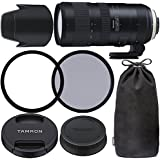 Tamron SP 70-200mm f/2.8 Di VC USD G2 Lens for Nikon F with 77mm Ultraviolet (UV) Filter, 77mm Polarizing (C-PL) Filter, Tamron Lens Hood, Tamron Case, Tripod Collar & More - International Version