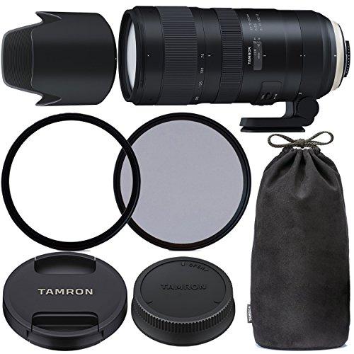 TamronSP 70-200mm f/2.8 Di VC USD G2 Lens for Canon EF with 77mm Ultraviolet (UV) Filter, 77mm Polarizing (C-PL) Filter, Tamron Lens Hood, Tamron Case, Tripod Collar & More - International Version