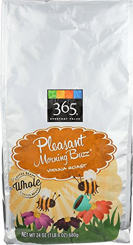 365 Everyday Value, Pleasant Morning Buzz Vienna Roast Whole Bean Coffee, 24 oz