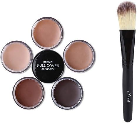 Toamen Popfeel Corrector De Maquillaje Facial Corrector Hidratante Cremoso De La Paleta De La FundacióN (A1): Amazon.es: Belleza