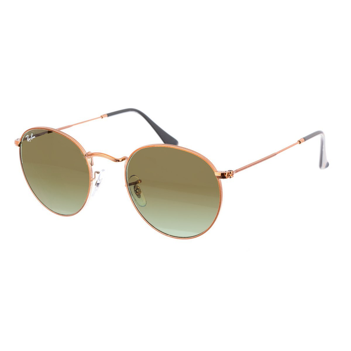 Ray-Ban Metal Round Sunglasses, Shiny Medium Bronze, 53 mm by Ray-Ban