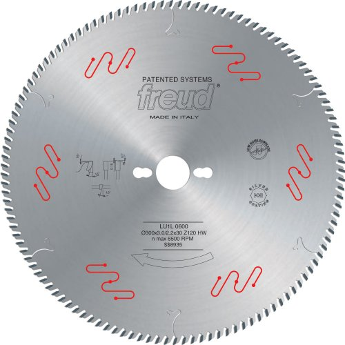 Freud LU1L09 350mm 120 Tooth Carbide Tipped High-Performance Blade for Crosscutting Solid Wood Frames, Profiles and End Trims