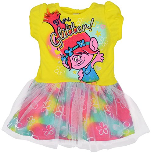 fe3639d8b Toddler Girls Trolls Dress Yellow