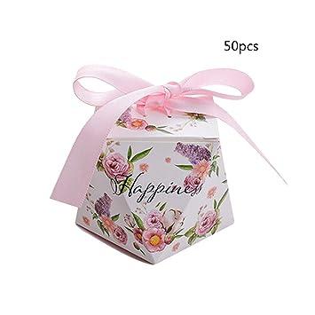 JYCRA cajas de regalo, paquete de 50 cajas decorativas para dulces caramelos, caja de