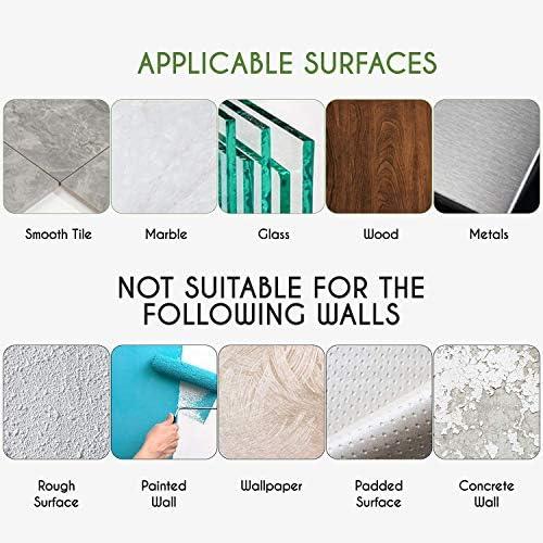 LEHOM Toilet Paper Holder, Self Adhesive Toilet Paper Roll Holder for Bathroom Washroom Kitchen Stick On Wall Mount Matt Black