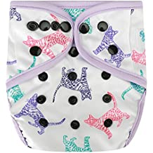 HappyEndingsTM One Size Cloth Diaper Cover AI2 System (Cats)