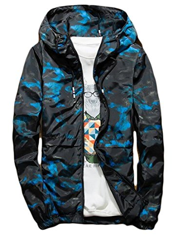 Outwear amp;S Men's Cross amp;W Camo Workwear Big Game Blue M Canvas Trail Jacket SPqdwP