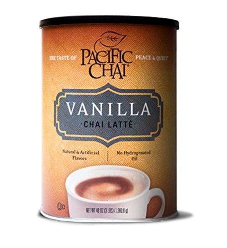 Pacific Chai Vanilla Instant Powdered Chai mix, 48oz canister