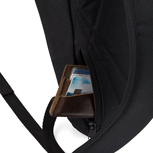 AEVOR Urban Rolltop Lifestyle Rucksack im Alltag inklusive gepolsterten Schultergurten und erweiterbar auf 18 Liter Moor Grey - Grau, Braun Black Eclipse - schwarz