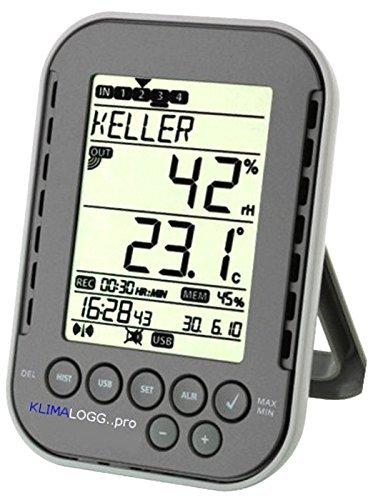 Profi-Klimalogger Klimalogg Pro 30.3039.10 anthrazit incl. 4 Stück Funksender 30.3180