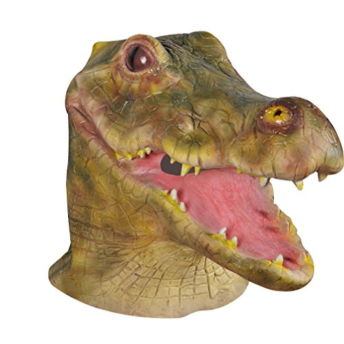 [Yicat Deluxe Latex Alligator Costume Head Mask Crocodile Costume Mask] (Adult Crocodile Costumes)