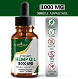 Hemp Oil Extract for Pain, Anxiety & Stress Relief - 1000mg of Pure Hemp Extract - Grown & Made in USA - 100% Natural Hemp Drops - Helps with Sleep, Skin & Hair.