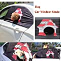 Yeefant Puppy House Pattern Foldable Car Visor Cover Window Sun Shade Pet Dog Hang Out Car Window Shade, Keeps Pets Safe, Top 33.5 Inch, Bottom 35.4 Inch, Height 19.7 Inch