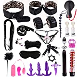 Guiseniour 26pcs Leather Handcuffs Set Toys for