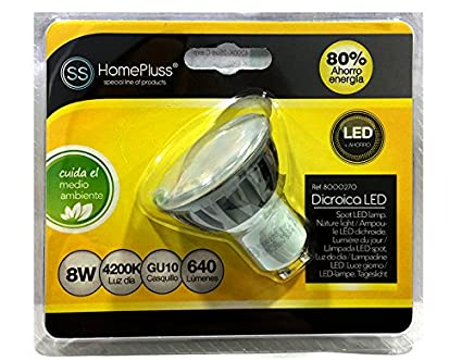 Bombilla Dicroica LED GU10 8W 640 Lúmens Luz Neutra 4200K