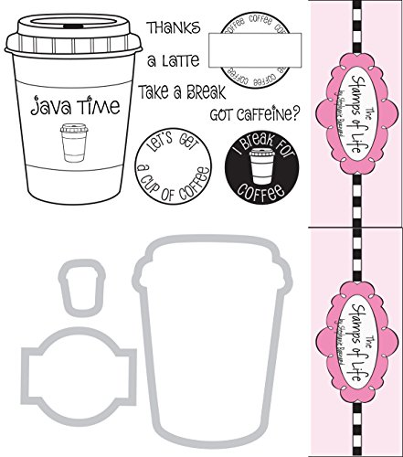 The Stamps of Life Clear Stamps & Dies, coffee4two and Coffee Die Set