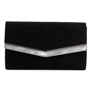 Pequeñas bolso bolso de noche piel sintética en charol óptica