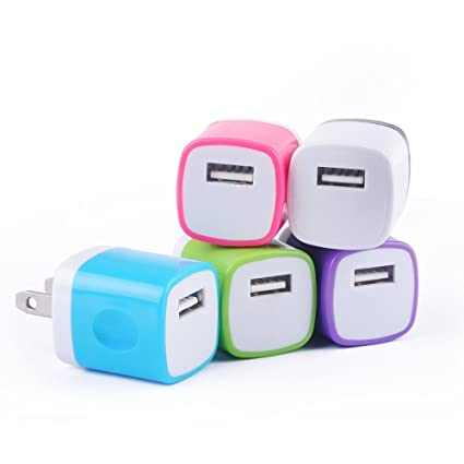 Amazon.com: Cargador USB, sixsim 5-Pack Colorful universal 1 ...