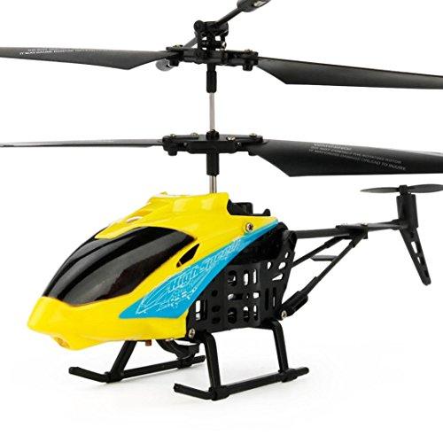 Nacome RC 2CH Mini Quadcopter Helicopter Radio Remote Control Aircraft Micro (Yellow) - Mini Plane Radio Remote Control