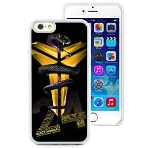 Hot Sale iPhone 6/iPhone 6S 4.7 Inch TPU Case ,Kobe Bryant 3 White iPhone 6/iPhone 6S Cover Unique And Popular Designed Phone Case