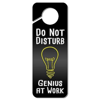 amazon com graphics and more do not disturb genius at work plastic