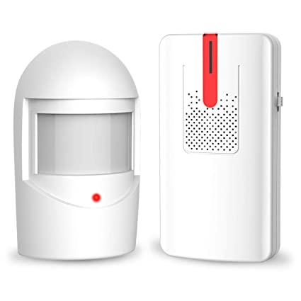 holahome Driveway Alarm Home Security - Driveway Sensor Waterproof Security Driveway Alert System PIR Motion Sensor Alarm Driveway Patrol Outdoor Home ...