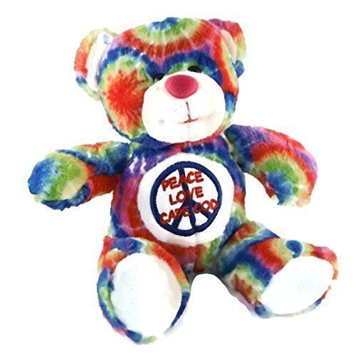 Cape Cod Tie Dye Teddy Bear  Peace Love Massachusetts
