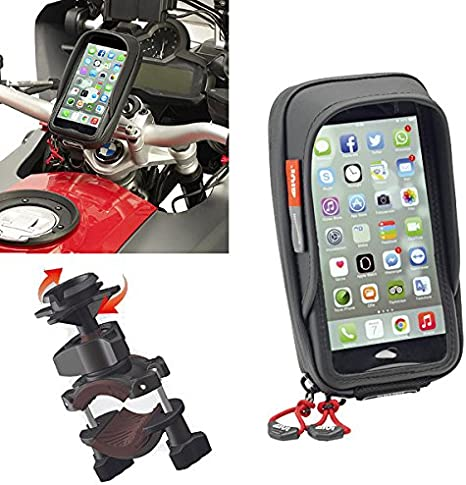 S957b Custodia Porta Cellulare Smartphone Givi Nero Per Moto Scooter Universale Amazon It Auto E Moto