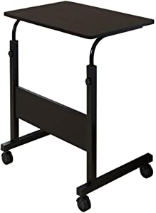 Computer Desk, Height Adjustable Mobile Laptop Stand Desk Rolling Cart, Home Office Chair Can Be Lifted and Lowered Computer Desk Bedside Table,Folding Study Writing Desk,Height Adjustable