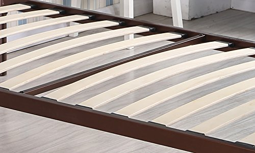 Merax Metal Platform Bed Frame Twin Size Mattress Foundation with Headboard and Wooden Slat Supports (Bronze)