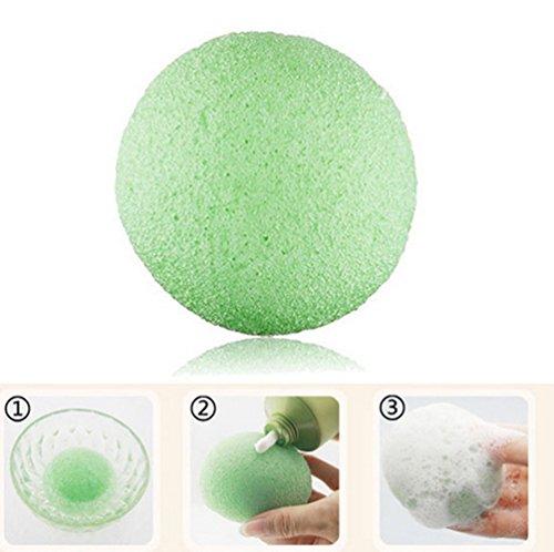 pkr-natural-konjac-konnyaku-facial-puff-face-wash-cleansing-sponge-green-tea-green-clay