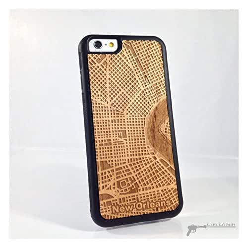 new orleans wood map phone case for iphone 7. Black Bedroom Furniture Sets. Home Design Ideas