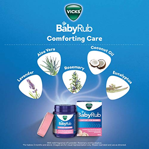 Vicks BabyRub Soothing Vapour Ointment for Babies (50ml)