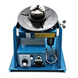 Rotary Welding Positioner Turntable Table Mini 2.5' 3 Jaw Lathe Chuck 2-10 r/min - CA NJ Warehouse (110V 50HZ)
