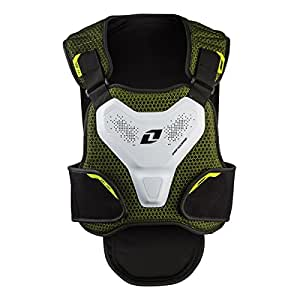 One Industries Exo Shell Chest Protector (Black/Chartreuse, Small/Medium)