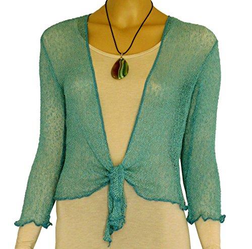 Coprispalle bolero da donna in maglia traforata, ampia vestibilit