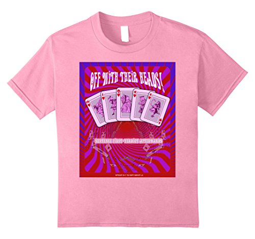 Alice In Wonderland King Of Hearts (Kids Alice In Wonderland - Psychedelic T Shirt Off With Heads 8 Pink)