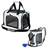 SHMEIQI Pet Carrier Backpack, Airline Approved Soft Sided Cats Dogs Carrier with Ventilated Design, Fleece Bedding, Locking Zippers & Metal Clasp – Perfect for Travel, Hiking & Outdoor Use Review
