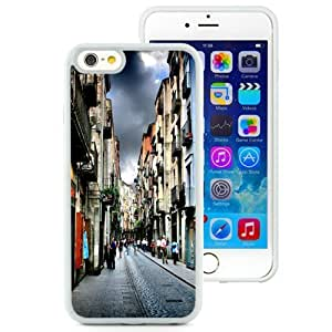 Beautiful Unique Designed iPhone 6 4.7 Inch TPU Phone Case With Narrow Street In Girona Spain_White Phone Case