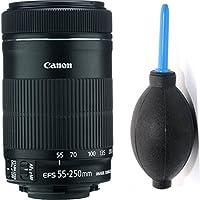 Canon 55-250mm IS STM Lens + Deluxe Lens Blower Brush