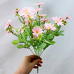 ZJJFZH Artificial Decorative Flowers Living Room Dry Bouquet Plastic Fake Flower Artificial Flower Rhododendron Decoration Home Small Decoration Coffee Table Indoor furnishings 32