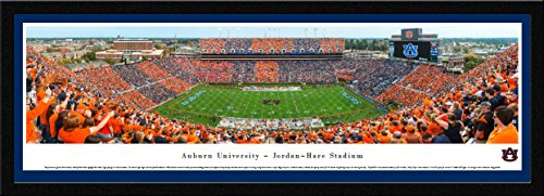 (Auburn Tigers Football - Stripe The Stadium - Blakeway Panoramas College Sports Posters with Select Frame)