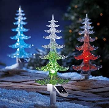 Garden mile large solar powered colour changing led garden garden mile large solar powered colour changing led garden christmas treegarden lighting perfect mozeypictures Image collections