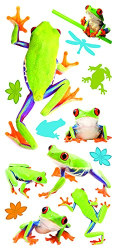 (Paper House Productions STP-0019E Frogs Puffy Stickers)