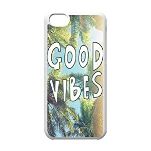 LJF phone case Good Vibes Unique Fashion Printing Phone Case for Iphone 5C,personalized cover case ygtg582848