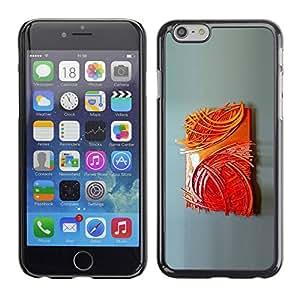 PC/Aluminum Funda Carcasa protectora para Apple Iphone 6 Art Painting Poster Modern / JUSTGO PHONE PROTECTOR