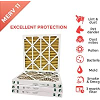 20x25x2 MERV 11 AC Furnace 2 Inch Air Filters. 12 Pack