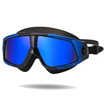 74d8d7e8ea7 GANZTON Swimming Goggles Large Frame Swim Goggles Anti-fog UV Protection  Big Frame 360°