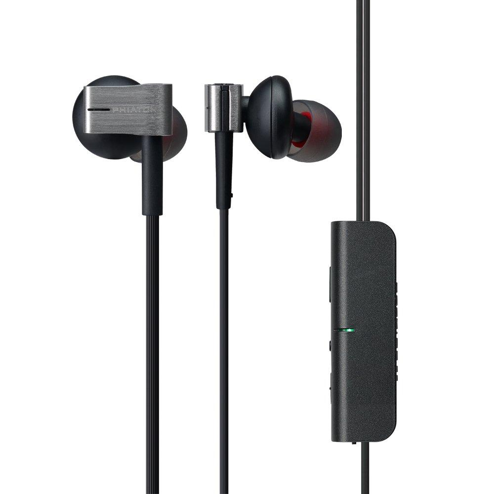 Auriculares Phiaton PS 202 NC Cancelacion de Ruido Activa Con Cable Earbuds in Ear Stereo Earphones con Microfono y Remo